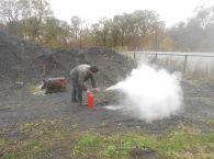 Подробнее: Практические занятия по использованию первичных средств пожаротушения